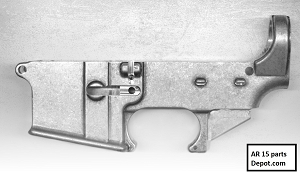 80% raw ar15  Lower Receiver forged in white
