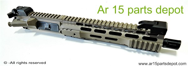 "Ar 15 upper receiver 10.5"" with 10"" free float complete assembly fde cerakote Preview"